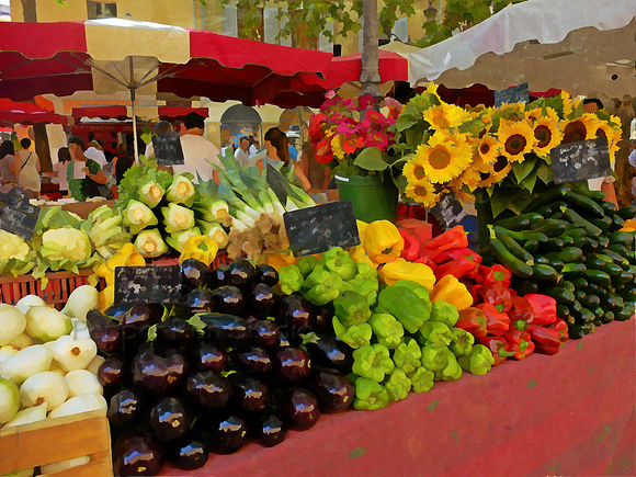 """""""Provence Market"""" taken in Aix-en-Provence, is one of my images at the Cultural Center Exhibition now.  Celebrate Art 2016, Juried Artist Member Exhibition, The Cultural Center at Ponte Vedra, 50 Executive Way, Ponte Vedra Beach, FL, 32082, January 8 - February 19, 2016"""